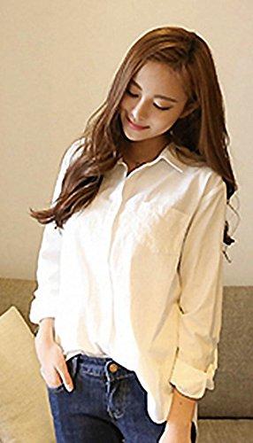 襟付きの白いシャツ|40代の頑張らないおしゃれ